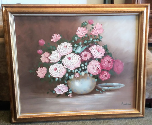 Large flower wall painting