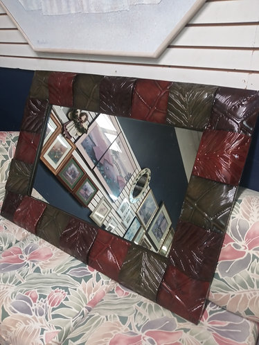 Large Mirror with a Beautiful Multicolored Frame