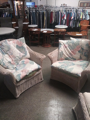 Amazing Large Floral Lanai Arm Chairs