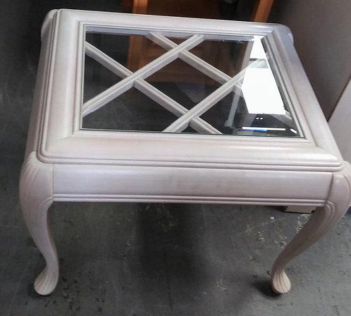 Unique glass top end table