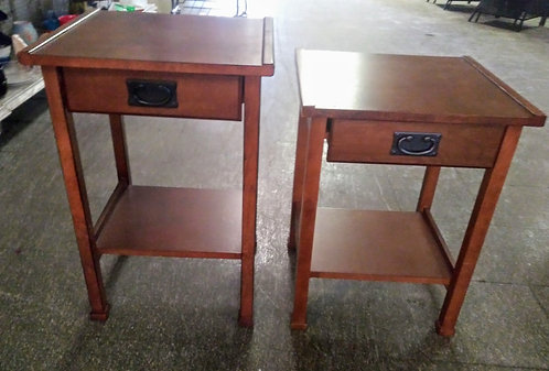 2 stunning antique side tables