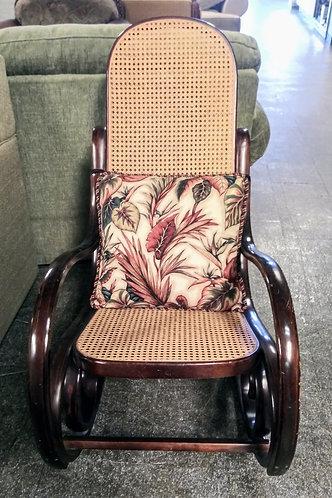 Gorgeous dark wood rocking chair