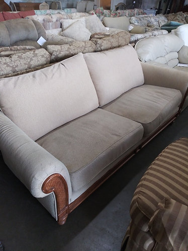 Rattan and Cloth Couch