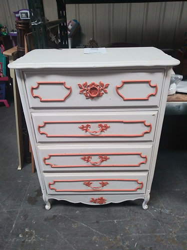 white and red dresser