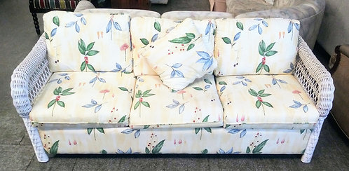 High quality wicker based sleeper sofa in great condition!