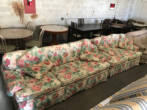 Floral Couch and Love Seat