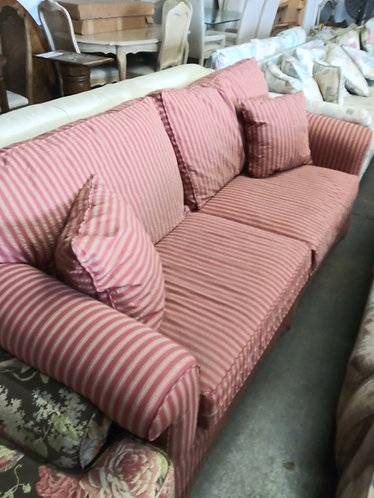 Red Striped Couch