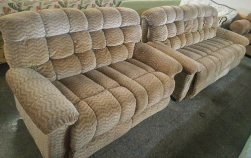 Super comfortable and affordable double reclining sofa and love seat
