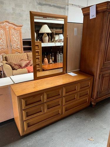 Dresser, Chest, and Mirror