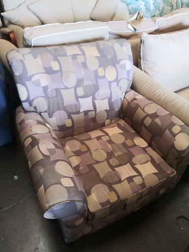 Vibrant Multi Colored Patterned Chair