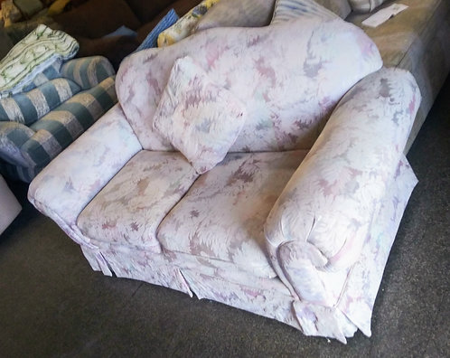 Like new super clean white and light pink floral love seat