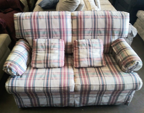 Plaid sleeper love seat in pristine condition!