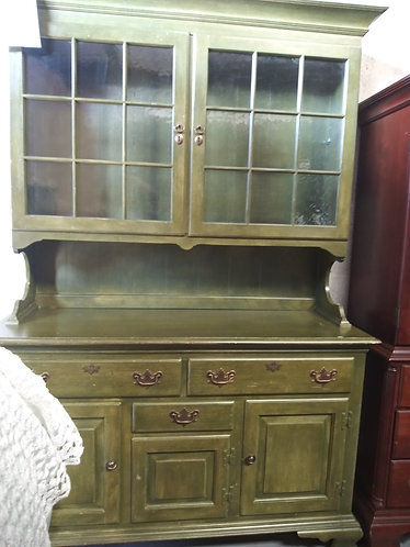 green wooden cabinet