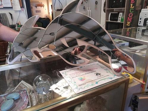 Unique dolphin mirror wall decor