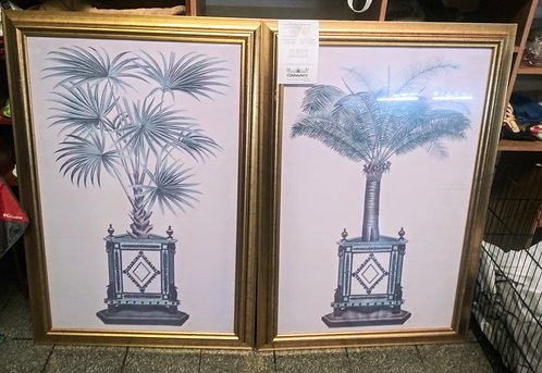 Beautiful matching pieces of art in gorgeous gold frames