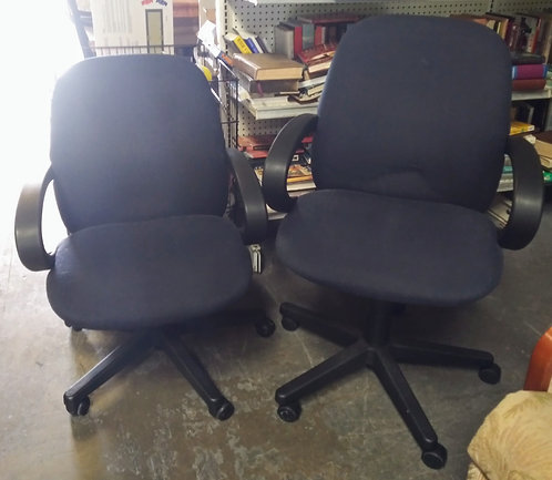 2 really nice high back office chairs