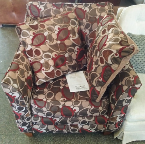 Vibrant and almost new Kevin Charles accent chair