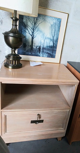 Affordable wood nightstand