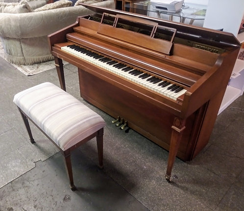 Story and Clark vintage upright piano with matching stool