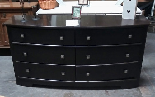 Very modern 6-drawer dresser and night stand