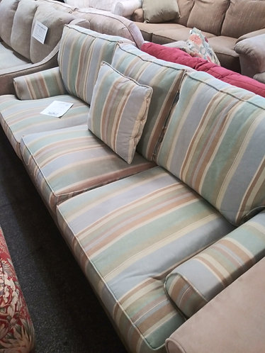 Really Nice Multicolored Striped Sofa