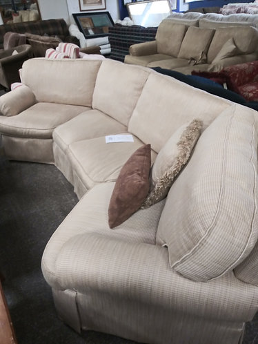 Very stylish tan/gold sectional
