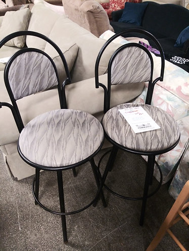 Cool Pair of Gray and White Bar Stools