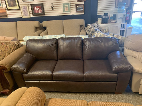 brown Leather Sleeper Couch