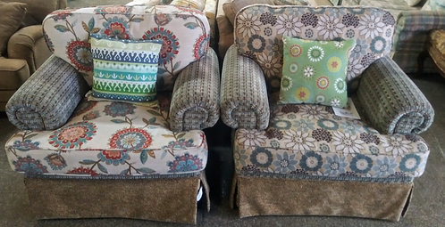 Super fun and clean large accent chairs