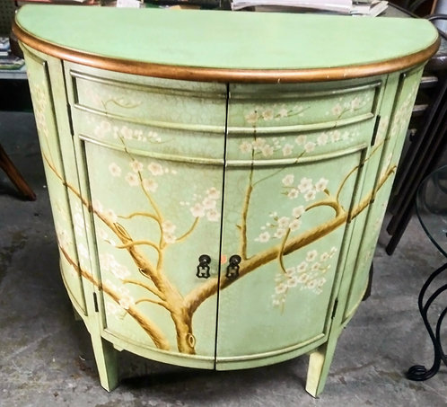 Exquisite hand painted accent cabinet