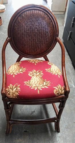Super cute and vibrant rattan bar stool