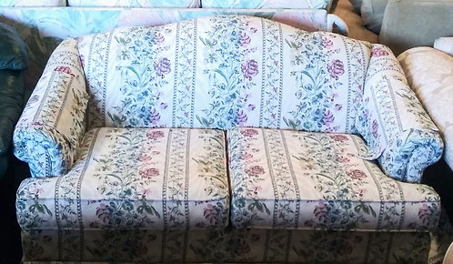Super clean and comfortable floral sofa