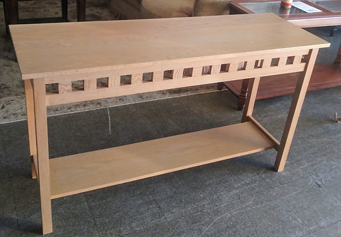Simple but beautiful solid wood sofa/entry table