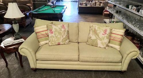 Immaculate light green sofa