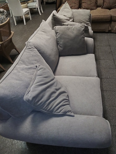 gray sofa with arm chair
