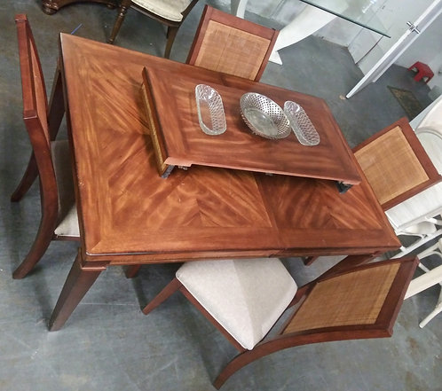Gorgeous modern wood table with 4 chairs