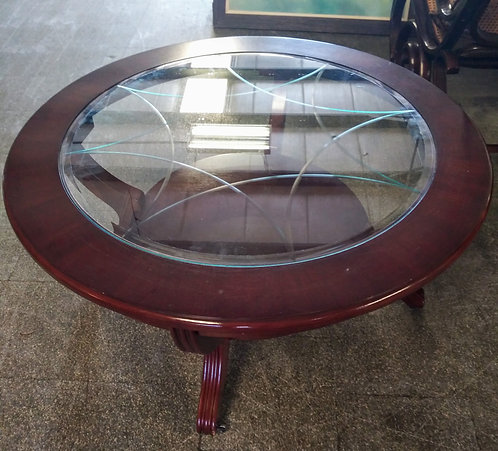 Stunning glass top coffee table