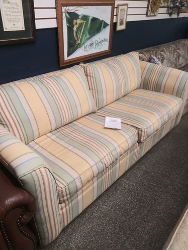 nice striped couch