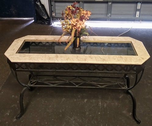 Exqusite marble and glass top entry way table