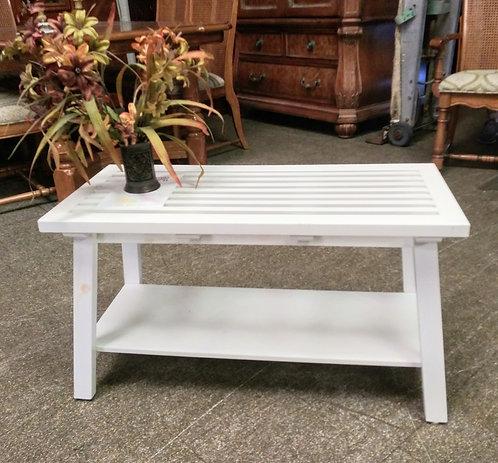 Cute small white bench
