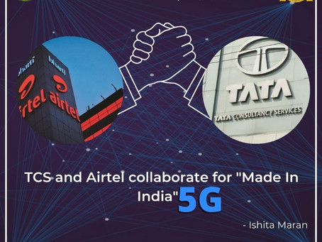 """TCS and AIRTEL collaborate for """"Made in India"""" 5G"""