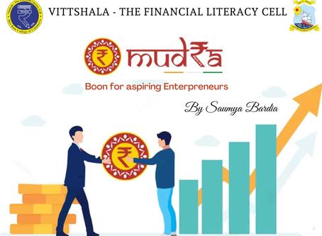 MUDRA- Boon for aspiring Entrepreneurs