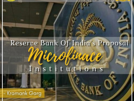 RBI's Proposals for Microfinance Institutions