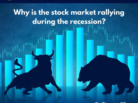 Why is the stock market rallying during a recession?