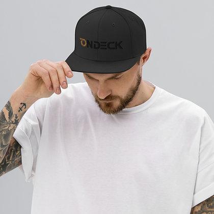 On Deck Black Out Snapback Hat