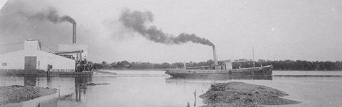 Port Broguton History Fibre works 1913