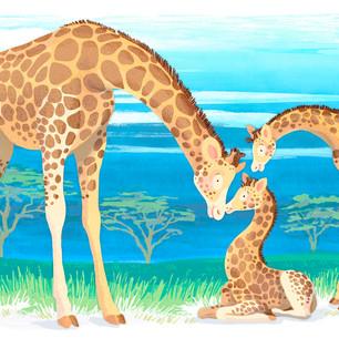 'Mommy Loves You' - gentle Giraffes