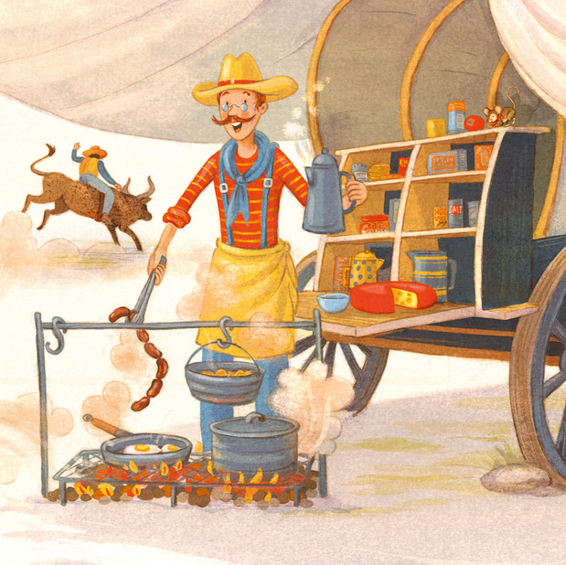 'The Real Farmer in the Dell', chuck wagon.