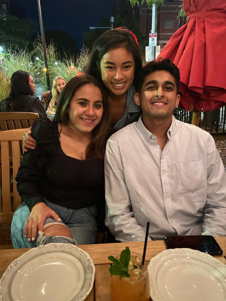 Andrea, Maggie, Nikhil