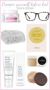 Top 8 Items you need for a pamper night at home